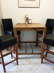 Bartisch und 4 Barstühle