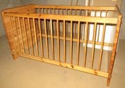 Kindergitterbett Jugendbett umbaubar mit Matratze