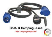 Camping-Adapterset 2-fach 1 5m TITANEX