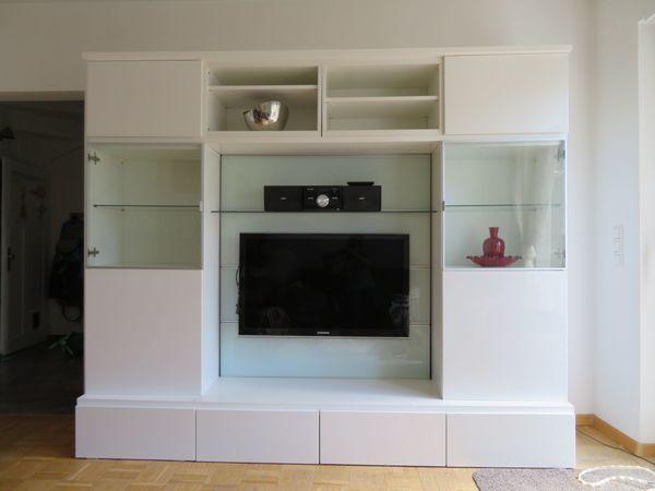 wohnwand tv wand wei ikea in landau. Black Bedroom Furniture Sets. Home Design Ideas