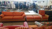 Sofa Rattan mit Sessel 2