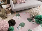 Kinderteppich rosa ø 140 cm