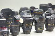 Umfangreiche Nikon Ausrüstung -einzeln oder