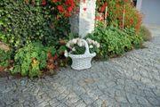 Garten Figur aus Beton Blumenkorb