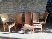 Esszimmer Stühle aus Rattan mit