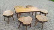 Hocker Holz Tisch Sixties Vintage