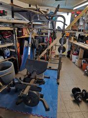 Hantelbank Fitnessturm ohne Gewichte