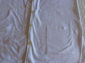 Damenbekleidung - Vintage Weste Sweatweste weiß Gr