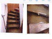 Treppenstufen aus Holz abschleifen