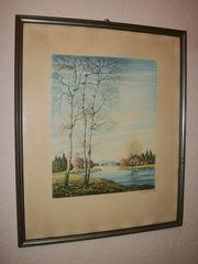 Wandbild von Otto Gerhardt Flussaue