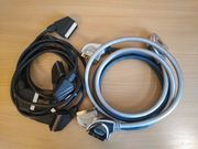 5 Stück Set Scart-Kabel 130-150cm