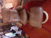 Stressless-Sessel mit Hocker Leder