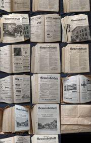 Dornbirner Gemeindeblatt Zeitung 1957-60-61-62-65-68 ganzer