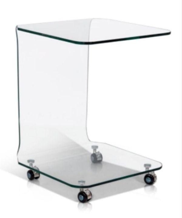 Beistelltisch aus Glas neu