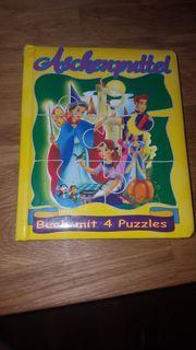 Buch Aschenputtel mit 4 Puzzles
