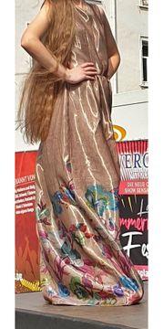 Designer Kleid Maxi Bronze Bunt