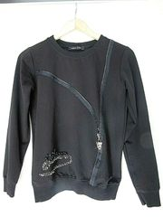 PHILIPP PLEIN Pullover schwarz mit