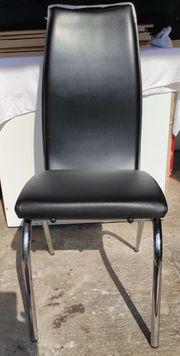 4 Stühle schwarz