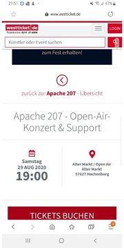 Apache tickets