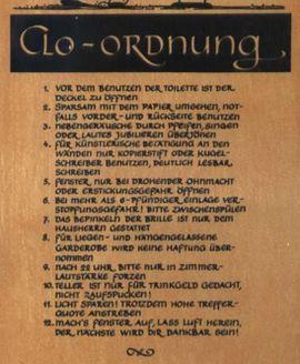 Alles Mögliche - Scherzschild Clo - Ordnung