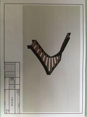 Treppe aus Stahlblech halbgewendelt
