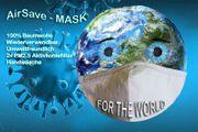 4x Edle Stoffmaske aus Baumwolle