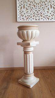 Wunderschöne Keramiksäule mit Übertopf neuwertig