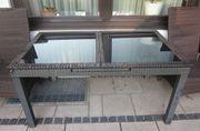 Gartentisch mit Glas ausziehbar 2