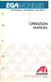 EGAWONDER - Operation Manual -
