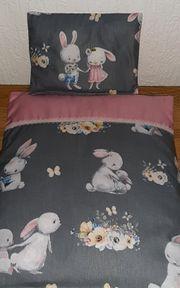 Puppenbettwäsche 2-teilig Häschen Ostern