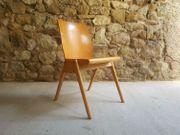 1 v 30 Holzstühle Vintage