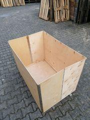Holzkiste Breit 120 cm - Tief