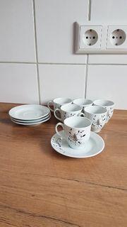 6 x Mokka Espresso Tassen