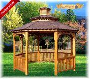 NEU Holz Pavillon Eiche lasiert