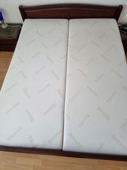 Visco-Thermo-Soft-Matratzen zusammen 160x200x20 5cm 2x80 -
