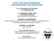 31 08 2019 HAUS- UND HOF-FLOHMARKT