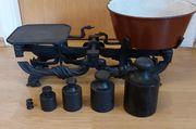 alte Balkenwaage Krämerwaage Küchenwaage - Gusseisen