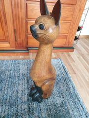 Verkaufe Deko Katzen aus Holz