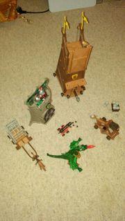 Playmobil Drache Ruine Turm Gefängniswagen