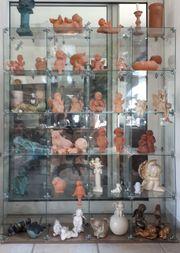 großes Stand-Glasregal Glassteckvitrine