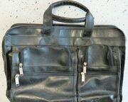 Laptop-Tasche Echt-Leder viele Innen- und