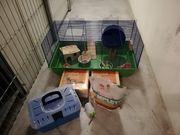 Hamsterkäfig mit verschiedenen Zubehör
