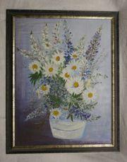 Ölbild Blumenstrauß