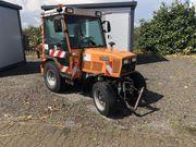 Traktor Schanzlin 304 Schiebeschild Streuer