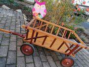 Holz-Leiterwagen Bollerwagen