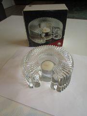 Stövchen Glas Teelicht aus Blockkristall