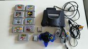N64 mit Zubehör und Spielen