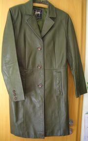 Mantel Damen Leder Gr M
