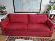 rotes 3 Sitzer Sofa mit
