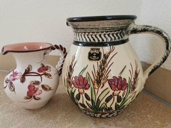 WIE NEU Tonkrüge Blumenvasen handgedreht